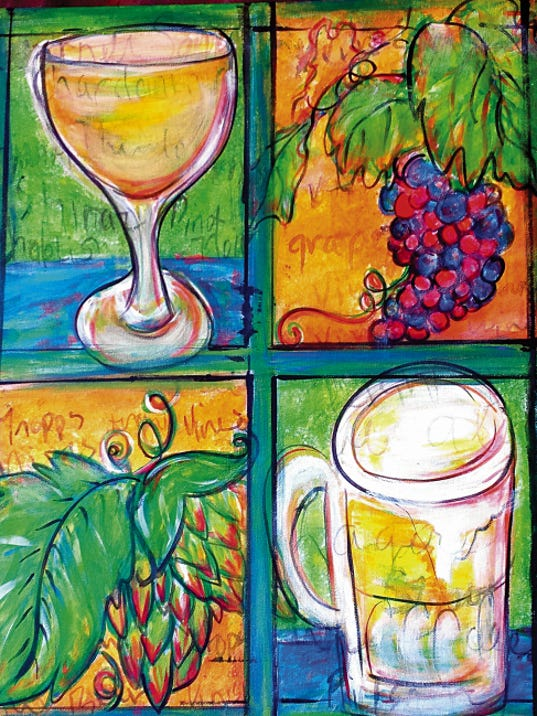 """Hops and Vines"" by Deana Hicks."