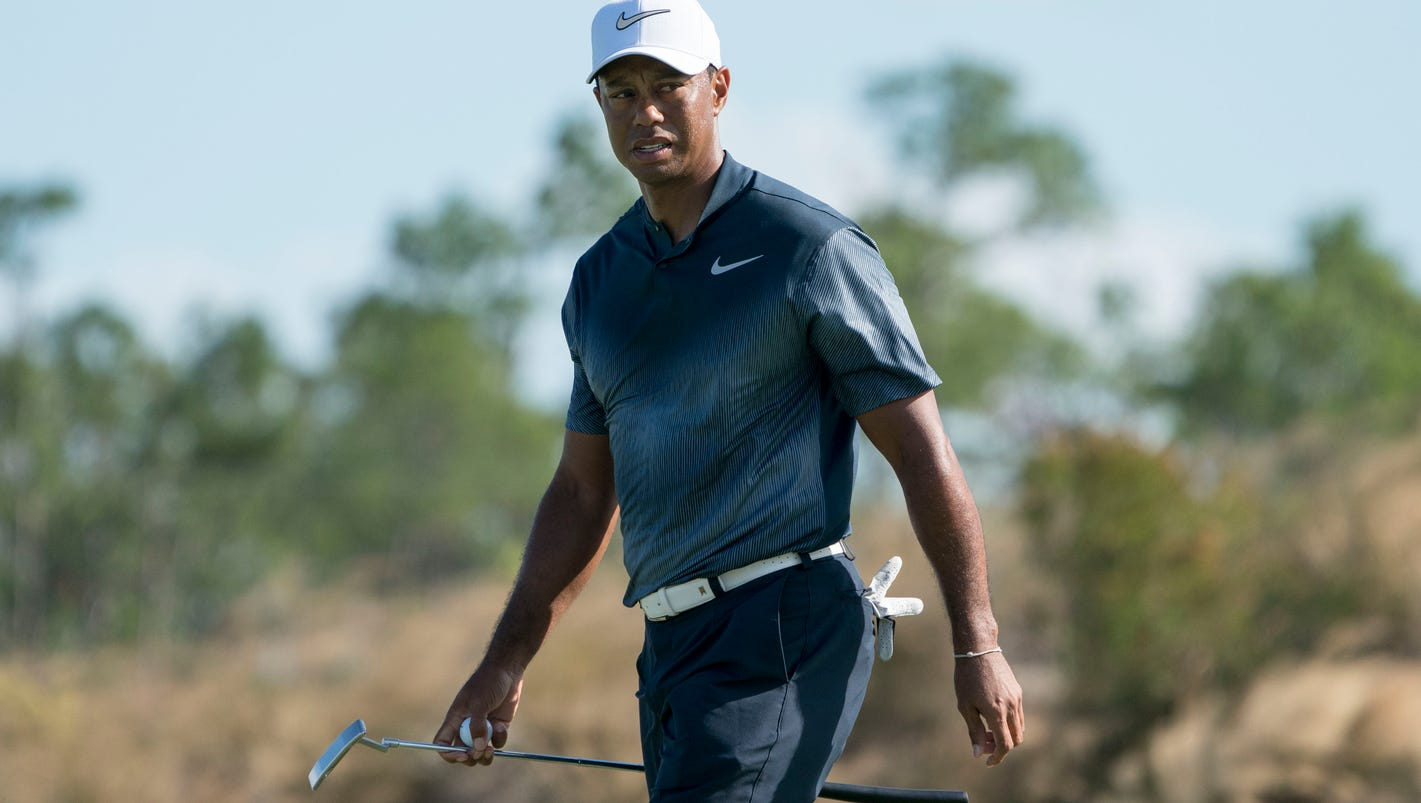 Out-of-sync Tiger Woods loses ground at Hero World Challenge