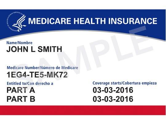 A Medicare card.