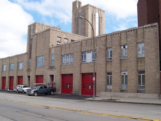 The Rochester Fire Department Headquarters and Shop buildings complex on Andrews Street.