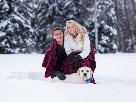 Chris Bruin and his wife, Taylor, were married this