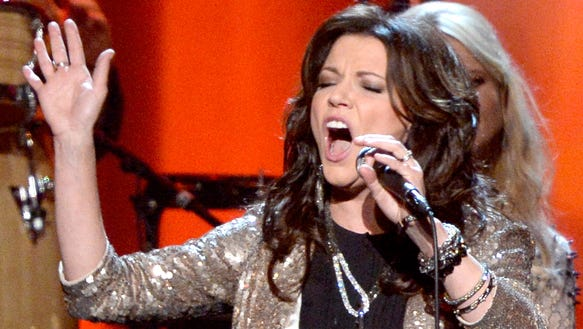 Martina McBride performs onstage at The 2014 MusiCares Person Of The Year Gala Honoring Carole King at Los Angeles Convention Center on January 24, 2014, in Los Angeles, Calif.