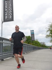 Chris Gent of the City of Poughkeepsie, pictured running