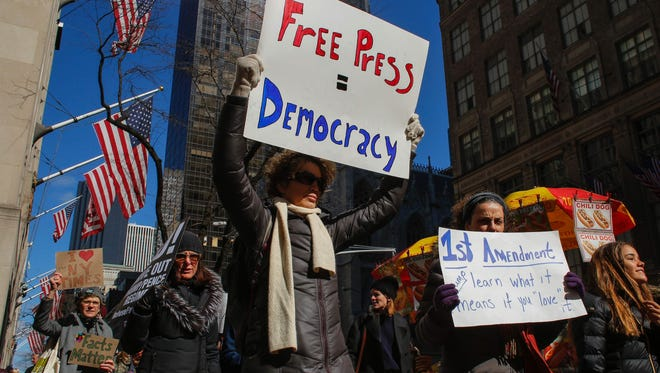 Protesters in New York on Feb. 26, 2017.