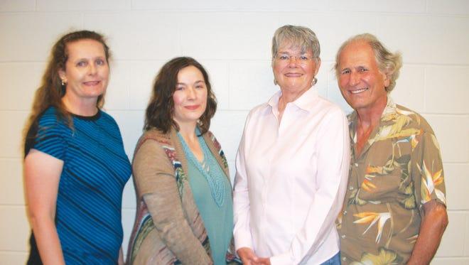 Current Friends of Fairview Library officers: Elizabeth Keeton, vice president; Paandrea Paisley, president; Julie Thomas, secretary;and Tony Vincent, treasurer.