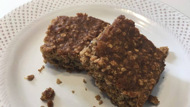 Healthy Table Apple, Oat and Walnut Squares