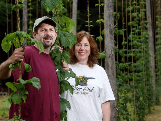 Jeff and Daryl Martin, owners of Bitter End Hops, a