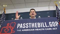 House Speaker Paul Ryan, R-Wis., speaks to the media