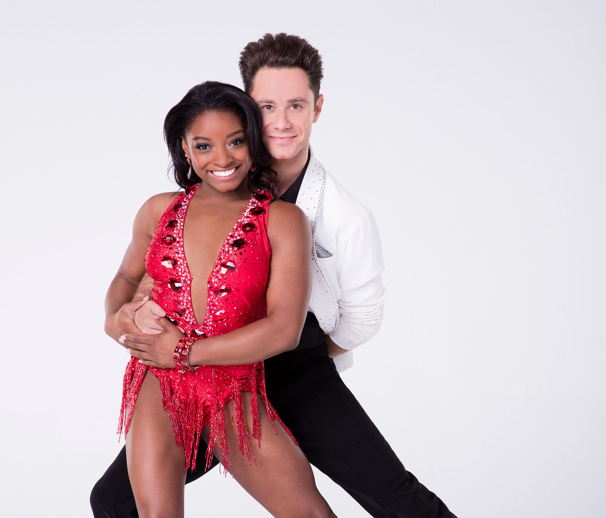 Simone Biles dances with Sasha Farber on the new season of 'Dancing With the Stars.'