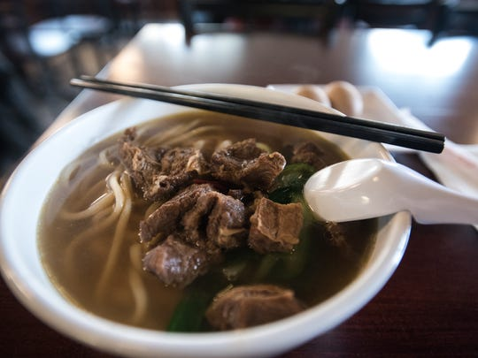A beef stew noodle bowl with made-to-order noodles and special broth