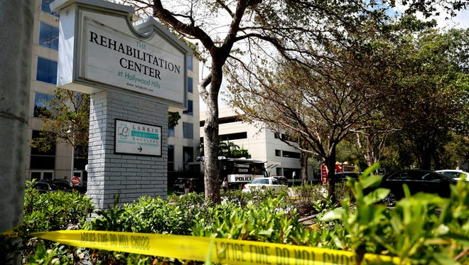 The nursing home in Hollywood Hills, Fla., where patients died.