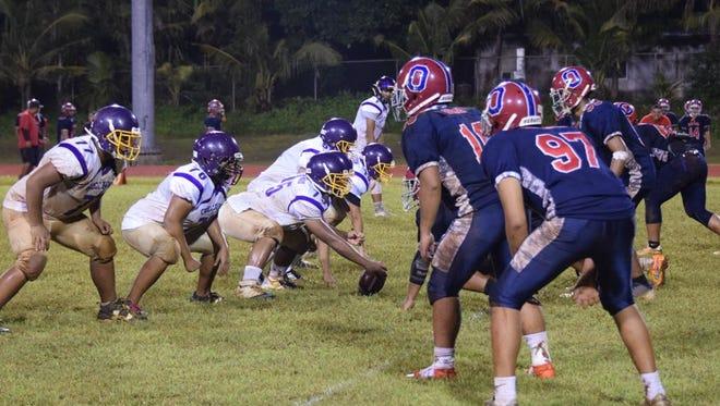 The Okkodo High School Bulldogs and the George Washington Geckos faced off in high school football Sept. 26, 2017.