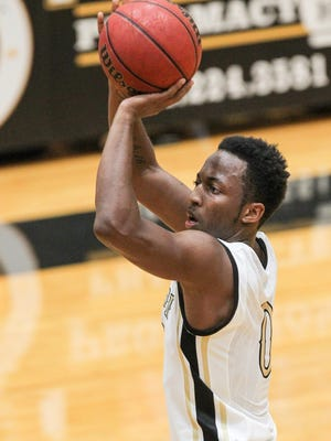 Anderson University sophomore guard Randall Shaw leads the Trojans with 19.2 points a game.