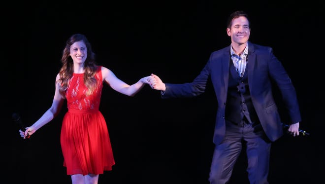 """Krista Buccellato and Nick Cartell perform a song from """"Phantom of the Opera"""" during Tennessee Performing Arts Center's 2015-16 season announcement Monday."""
