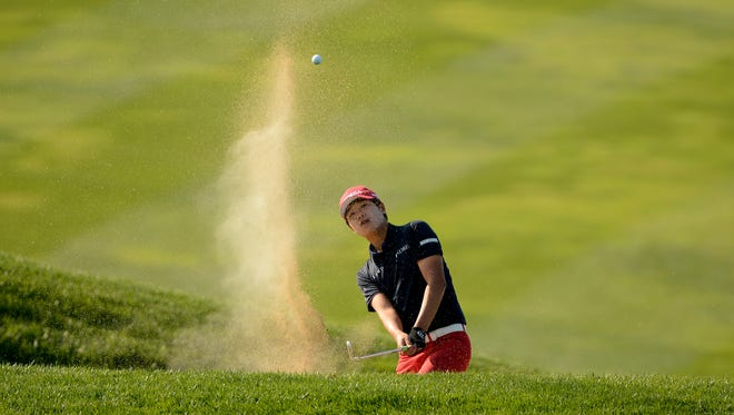 Lee Chang-woo of South Korea leads by a shot after three rounds of the Asia-Pacific Amateur Championship.