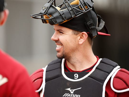 Tuffy Gosewisch had a catcher's ERA of 3.89 last season as the backup. Arizona Diamondbacks catcher Tuffy Gosewisch during spring training camp on Feb. 20, 2015 at Salt River Fields at Talking Stick.