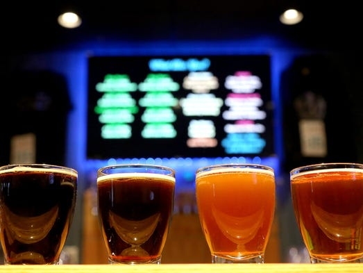 So many kinds of local beer brewed at the Ypsi AleHouse