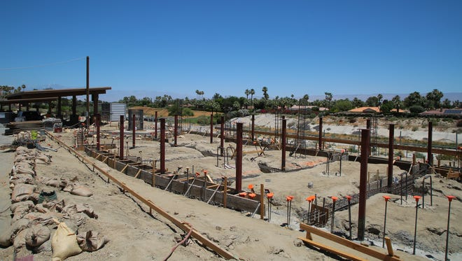 Construction continues on the nearly $3.6 million observatory next to Rancho Mirage Library June 12, 2017. The facility -- the first of its kind in the Coachella Valley -- is expected to be completed in early 2018.