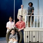 "Starring in the Ti-Ahwaga Performing Arts Center of ""To Kill a Mockingbird"" are Greg Fusare (Atticus Finch), Adara Alston (Calpurnia), Nadia Murphy (Scout Finch), Adam Ackerman (Jem Finch) and JohnPaul Kidney (Dill)."