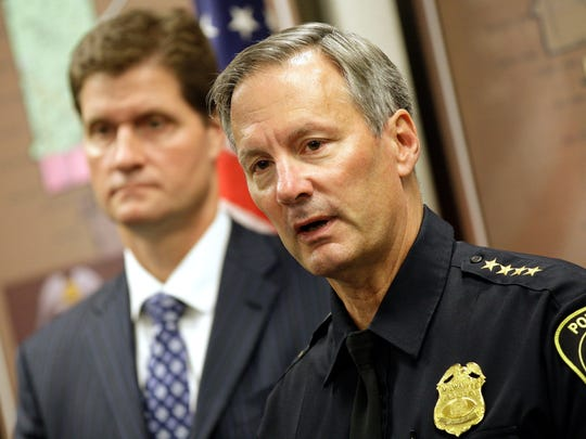 Milwaukee police Chief Ed Flynn (right) and Milwaukee County District Attorney John Chisholm.