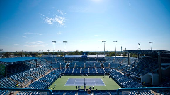 Center court at the 2013 Western & Southern Open.
