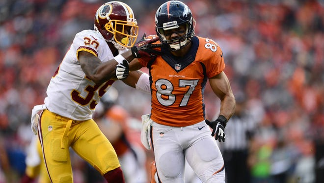 Eric Decker and the high-flying Broncos are playing for home-field advantage in the playoffs.