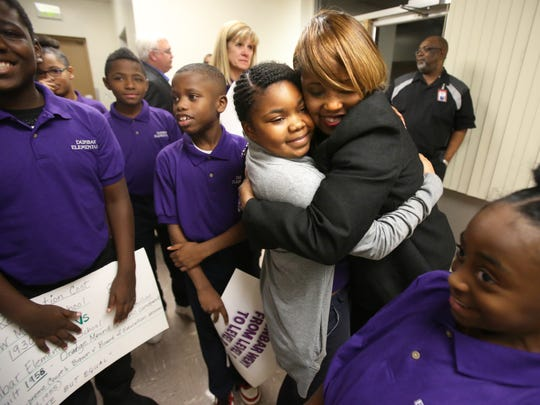 Dunbar Elementary fourth-grade student Camya Everett