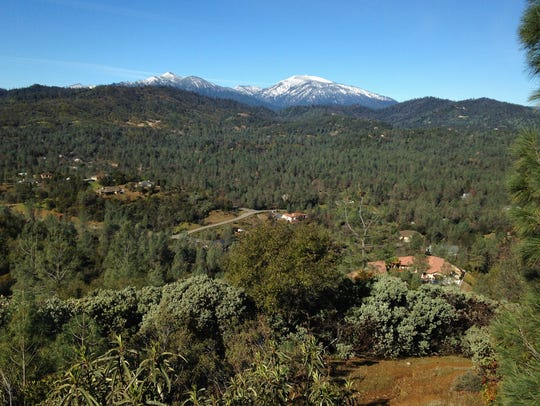 Views to the west take in Shasta Bally and Salt Creek