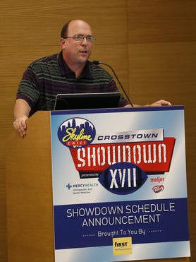 Skyline Chili Crosstown Showdown organizer Tom Gamble will announce the 2015 schedule on May 18.