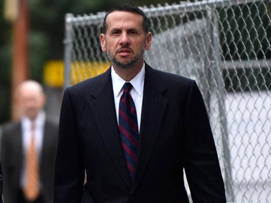 David Wildstein outside federal court on Tuesday, Oct.