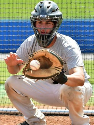 Catcher Carlos Diaz is hitting .405 in his first season at Jackson State.