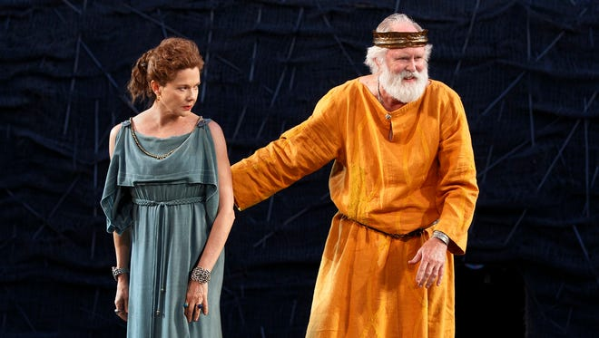 Annette Bening and John Lithgow star in the Public Theater's Shakespeare in the Park production of 'King Lear.'