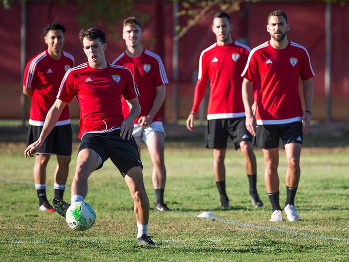 The FC Arizona professional soccer team practices at