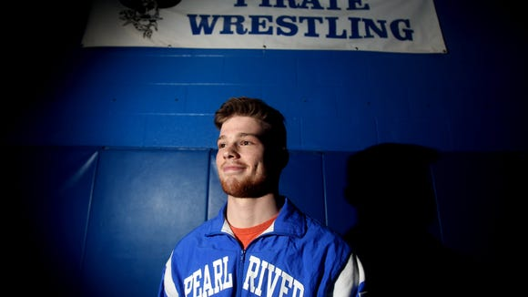 Jack Chesman, a Pearl River High School junior, is the Journal News Rockland County wrestler of the year. He was photographed March 14, 2018.