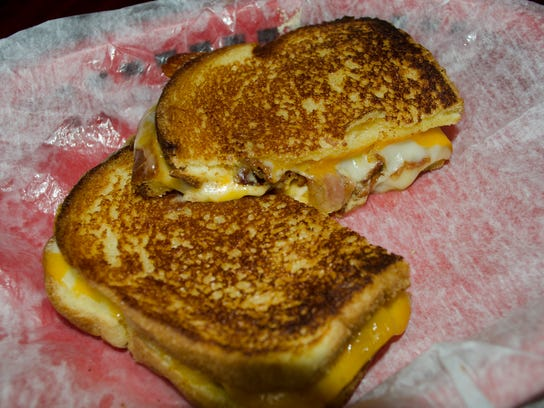 "The Wedge's grilled cheese sandwich, ""The Big Cheese."""