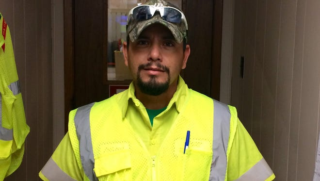 """Ricardo """"Ricky"""" Estrada was driving his trash truck for Waste Connections, Inc., on Tuesday, Feb. 6, 2018, when he saw something run under his truck. He got out to see what it was and it was a little girl."""