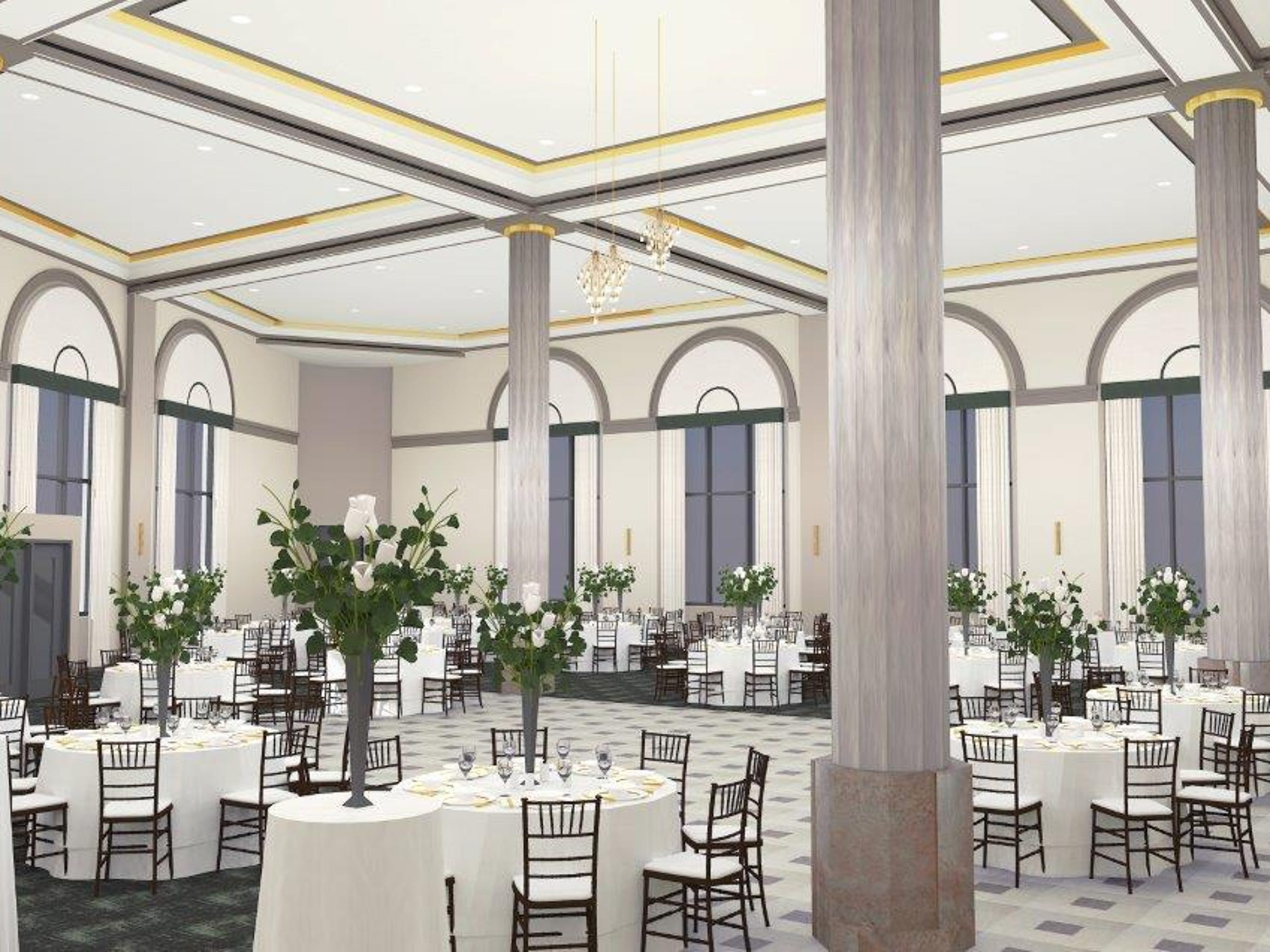 A rendering of plans for the ballroom at CityFlats, 800 Military St. It was not included in a recent tour with the Times Herald.