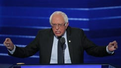 Sen. Bernie Sanders delivers remarks on the first day