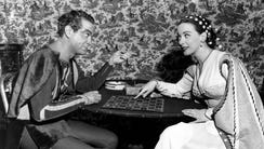 Alfred Drake, left, and Patricia Morison, co-starring