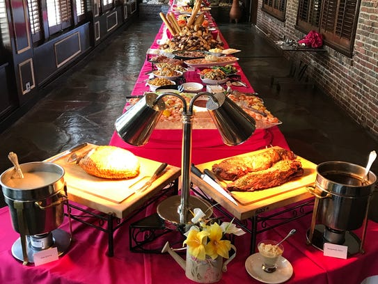 A bountiful buffet awaits Mother's Day guests at the