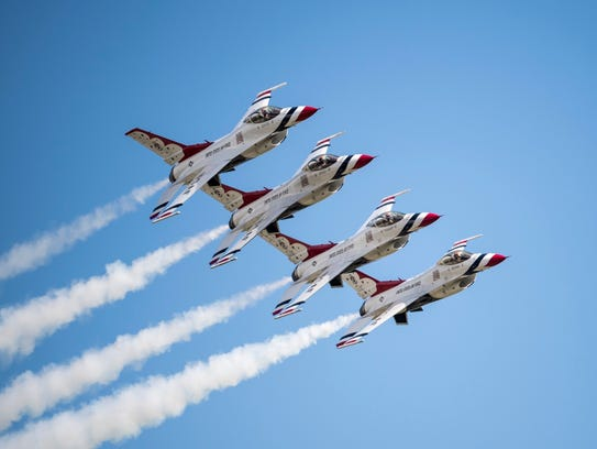 The United States Air Force Thunderbird demonstration