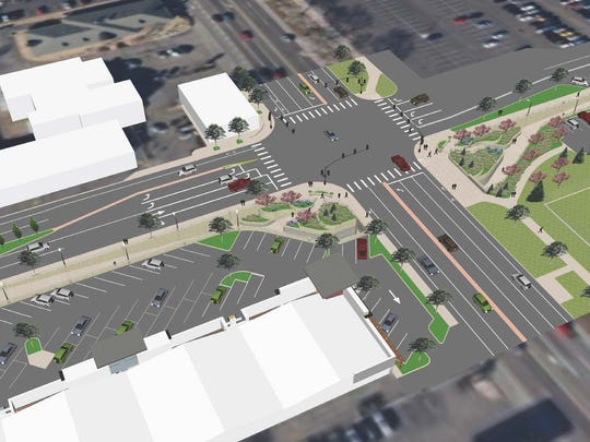 A rendering gives a bird's eye view of the intersection of Shields and Elizabeth streets following construction of an underpass of Shields near the CSU campus.