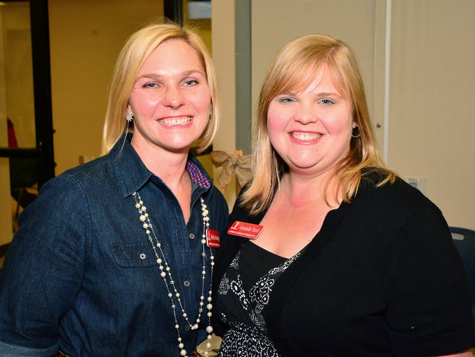 Heather Armstrong and Amanda Choat at the screening of Miss Representation, presented by the Powerful Women of the Gulf Coast and the Junior League of Pensacola.