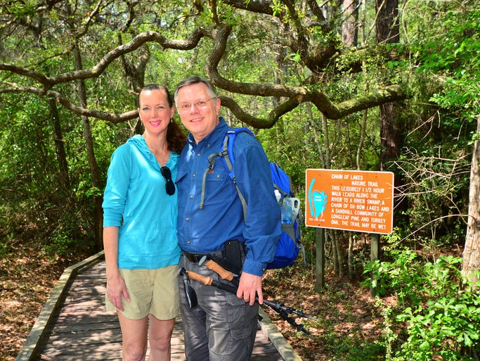 Lisa and Robert Hilliard at Blackwater River.