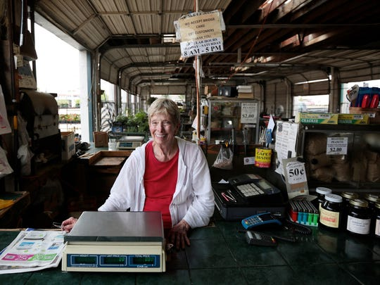 Ann Spaccarotella, the owner of H&S Produce, poses
