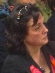 Milton High Principal Anne Blake during the public forum on hazing last year.
