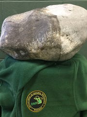 The 93 Pound Petoskey Rock Illegally Removed From Lake