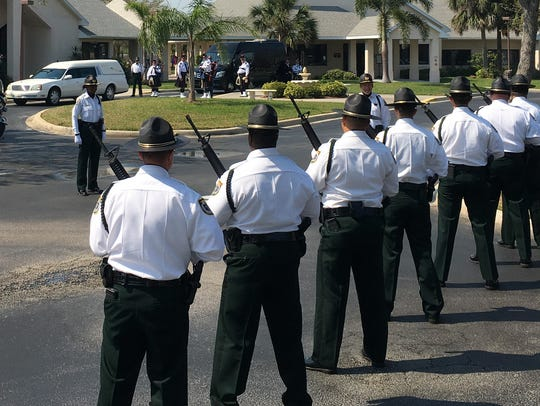 Law enforcement gathered for the funeral for Brevard
