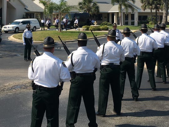 Law enforcement gathered for the funeral for Brevard County Sheriff's Deputy Keith Hardin Tuesday in Rockledge.