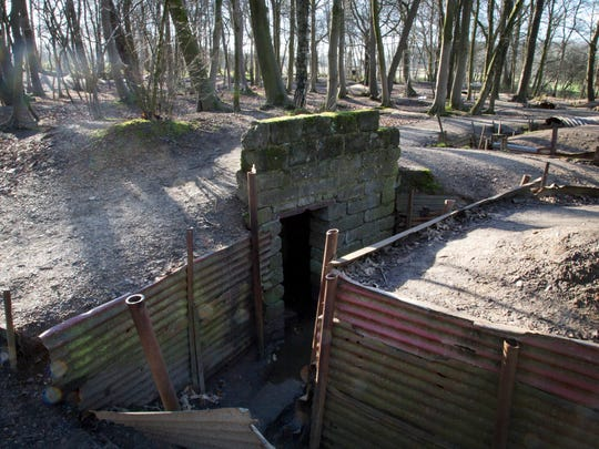 British trenches are preserved at Sanctuary Wood in Ypres, Belgium. The farmer who owned the site was able to maintain a large section of trench.